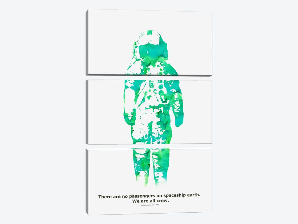 Spaceship by Budi Satria Kwan 3-piece Canvas Art