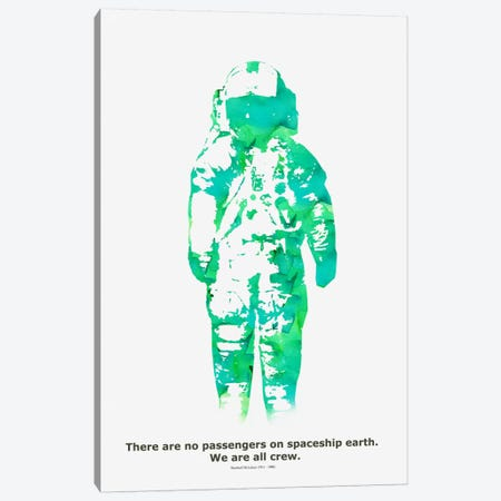 Spaceship Canvas Print #13830} by Budi Satria Kwan Art Print