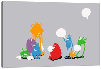Speech Bubble Canvas Art Print