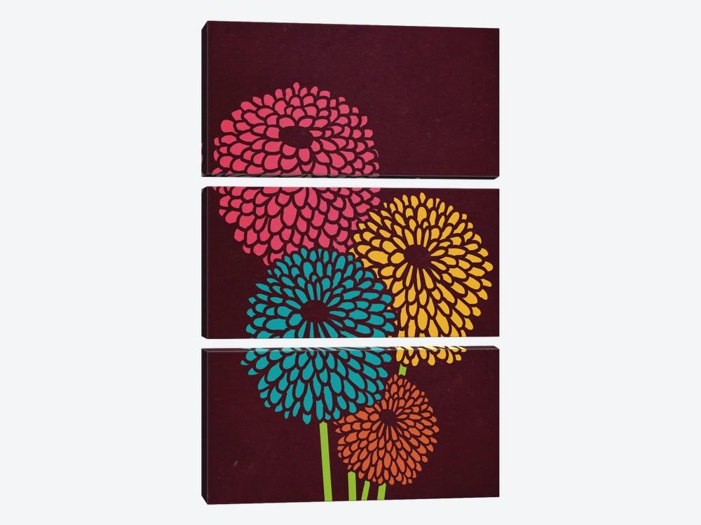 Still Life With Chrysanthemums by Budi Satria Kwan 3-piece Canvas Art