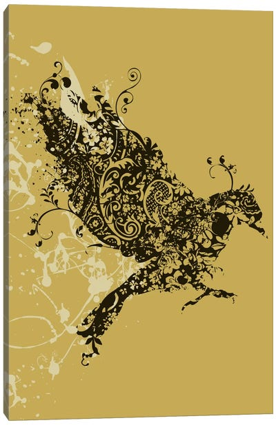 Tattooed Bird Canvas Art Print