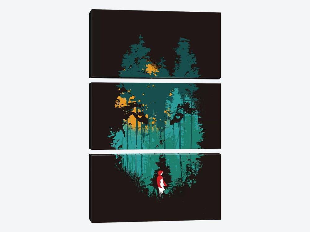 The Wood Belongs To Me by Budi Satria Kwan 3-piece Art Print