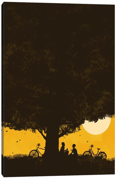 Under Giant Oak Tree Canvas Art Print