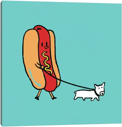 Double Dog Canvas Art Print
