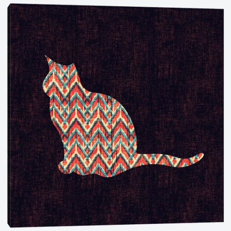 Ikat Cat Canvas Print #13860} by Budi Satria Kwan Canvas Artwork