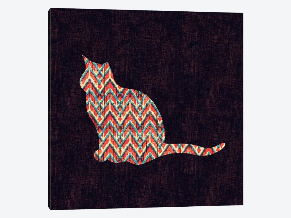 Ikat Cat by Budi Satria Kwan 1-piece Canvas Print
