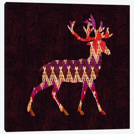 Ikat Deer Canvas Print #13861} by Budi Satria Kwan Canvas Wall Art