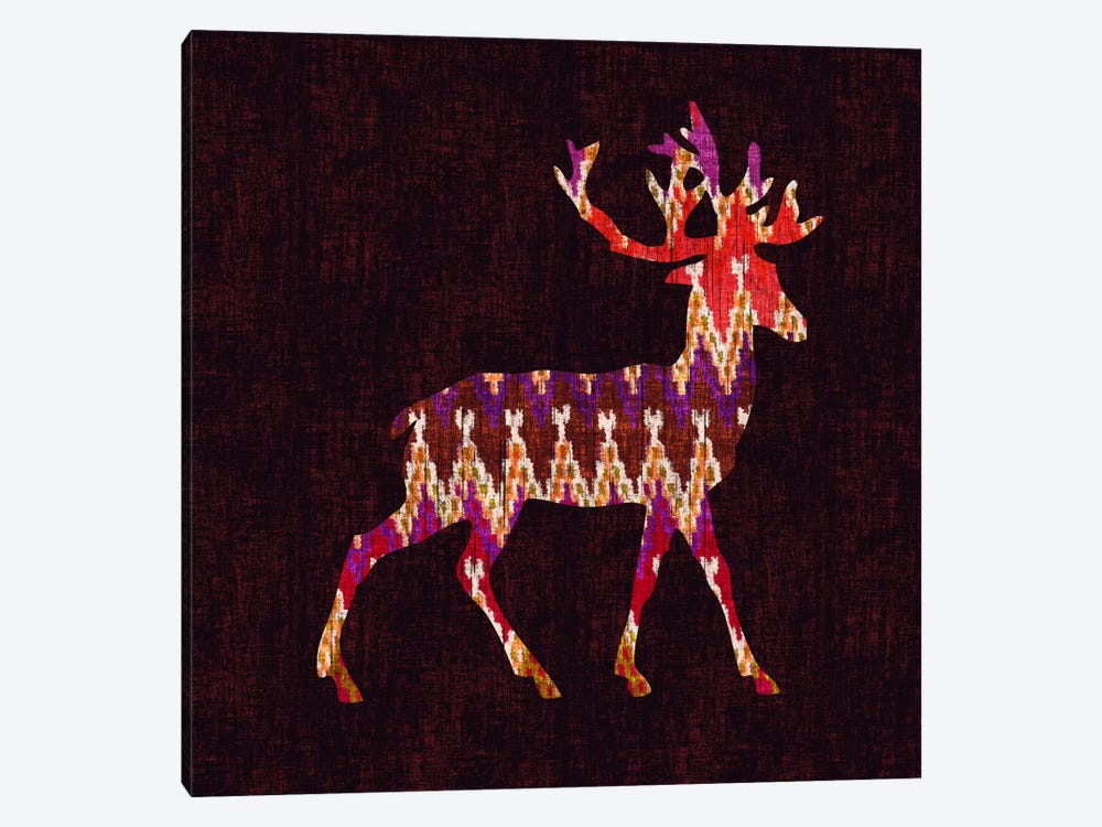 Ikat Deer by Budi Satria Kwan 1-piece Canvas Wall Art