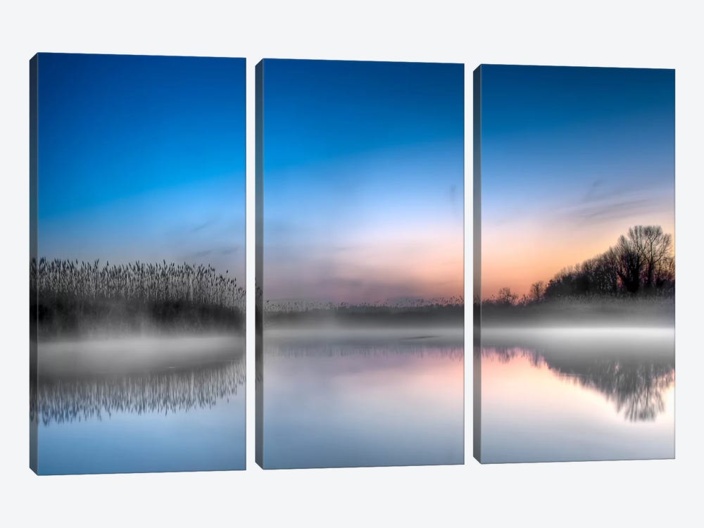 Vellum by Geoffrey Ansel Agrons 3-piece Canvas Art Print