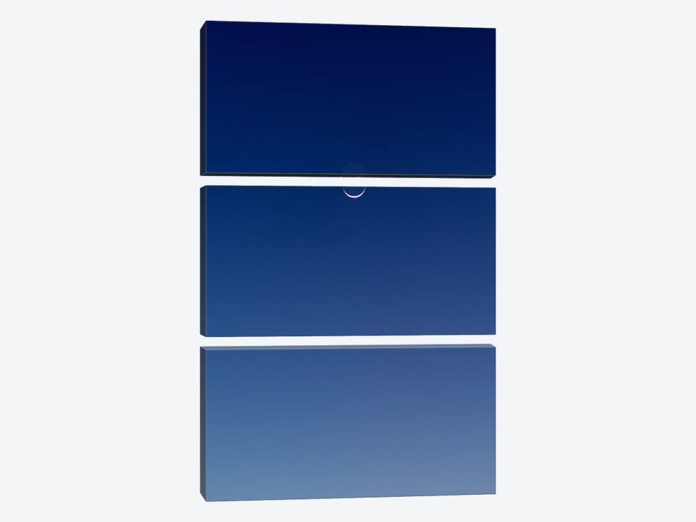 Blue Gradient by Geoffrey Ansel Agrons 3-piece Canvas Print
