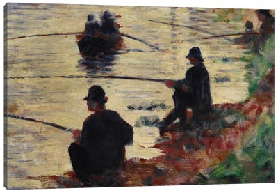 Anglers Canvas Art Print