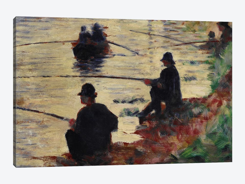 Anglers by Georges Seurat 1-piece Canvas Wall Art