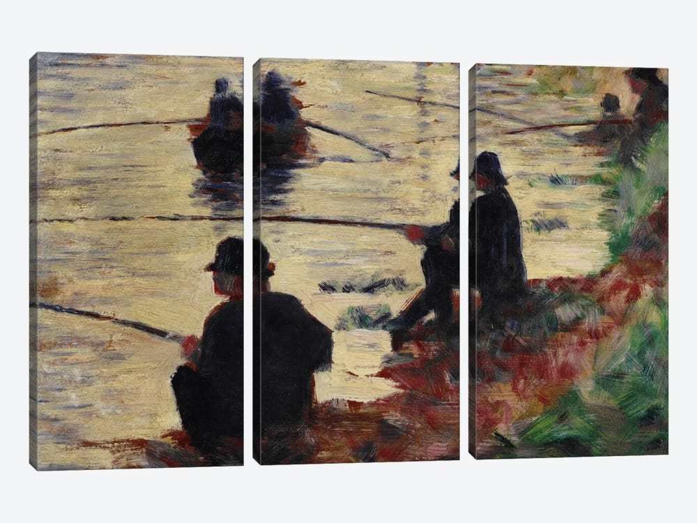 Anglers by Georges Seurat 3-piece Canvas Art