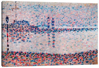 Study For The Channel At Gravelines by Georges Seurat Canvas Art Print
