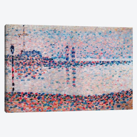 Study For The Channel At Gravelines Canvas Print #1389} by Georges Seurat Canvas Art Print