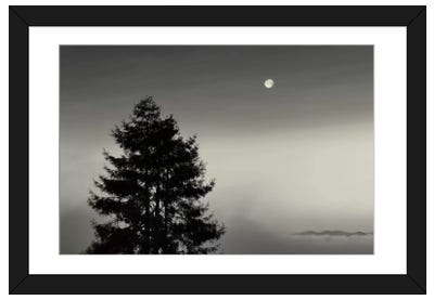 First There is No Mountain Framed Art Print
