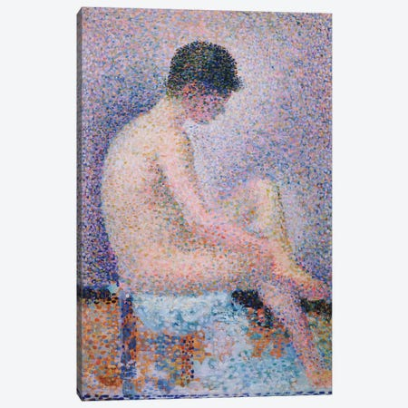 Model In Profile, 1886 Canvas Print #1390} by Georges Seurat Canvas Artwork