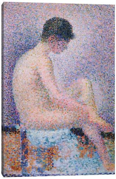 Model In Profile, 1886 by Georges Seurat Canvas Artwork