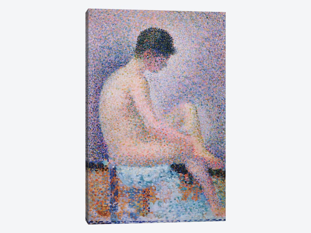 Model In Profile, 1886 by Georges Seurat 1-piece Canvas Art Print