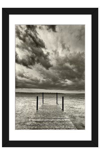 First Droplets Monochrome Framed Art Print