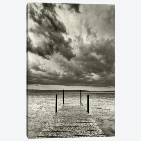 First Droplets Monochrome Canvas Print #13917} by Geoffrey Ansel Agrons Art Print