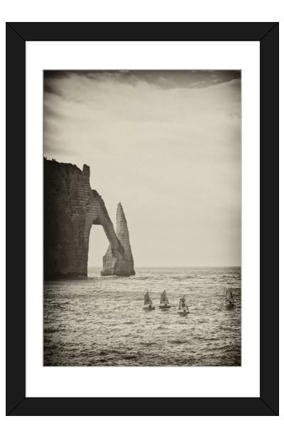 Four Blue Sails Framed Art Print