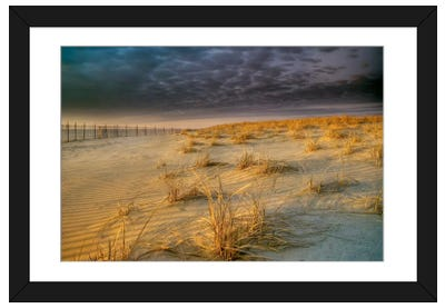 Poverty Beach Framed Art Print