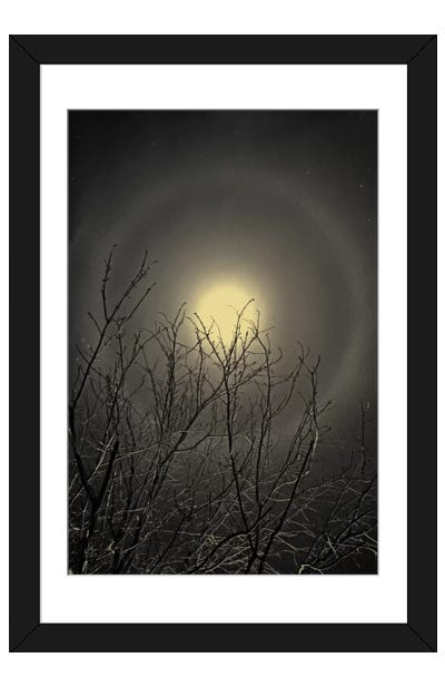 The Moon is the North Wind's Cookie Framed Art Print