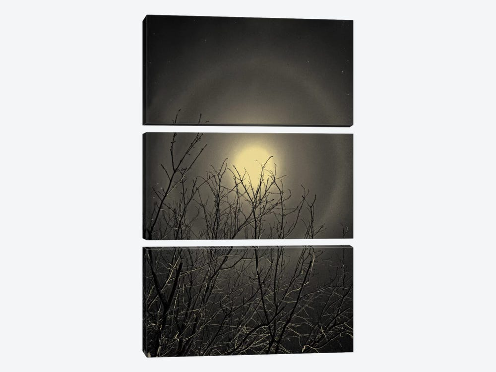 The Moon is the North Wind's Cookie by Geoffrey Ansel Agrons 3-piece Canvas Print
