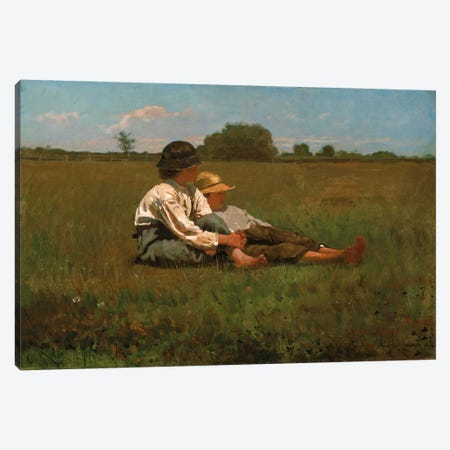 Boys In a Pasture, 1874 Canvas Print #1395} by Winslow Homer Art Print
