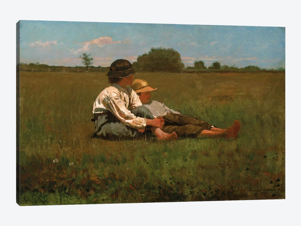 Boys In a Pasture, 1874 by Winslow Homer 1-piece Canvas Artwork