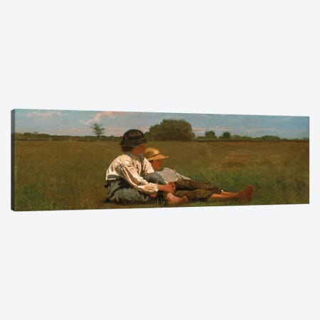 Boys In a Pasture Canvas Print #1395PAN} by Winslow Homer Canvas Print