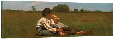 Boys In a Pasture Canvas Art Print