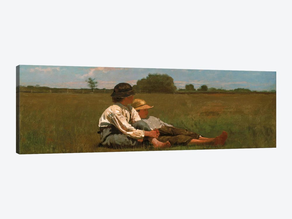 Boys In a Pasture by Winslow Homer 1-piece Canvas Print
