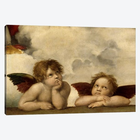 The Two Angels Canvas Print #1396} by Raphael Canvas Print