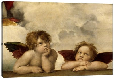 The Two Angels by Raphael Canvas Print