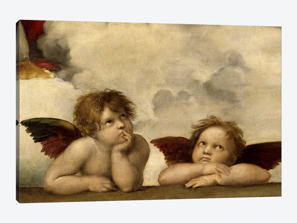 The Two Angels by Raphael 1-piece Canvas Art Print