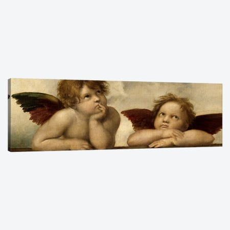 The Two Angels Canvas Print #1396PAN} by Raphael Art Print