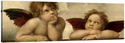 The Two Angels by Raphael Art Print