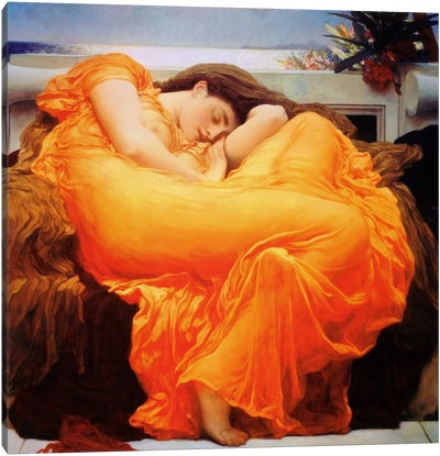 Flaming June by Frederick Leighton Canvas Print
