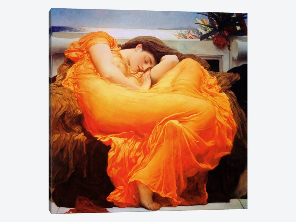 Flaming June 1-piece Canvas Artwork