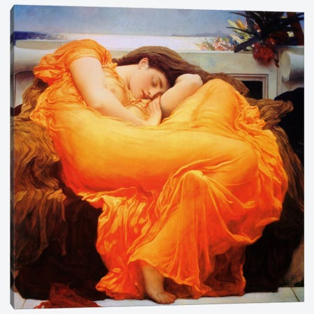 Flaming June Canvas Print #1397} by Frederic Leighton Canvas Print