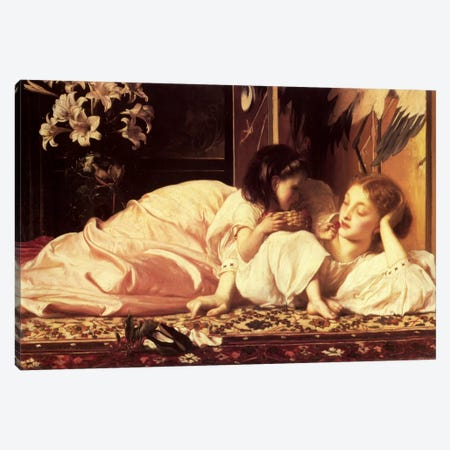 Mother and Child Canvas Print #1399} by Frederic Leighton Canvas Art