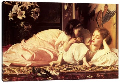 Mother and Child by Frederick Leighton Canvas Art
