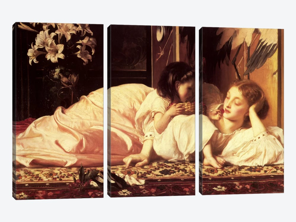 Mother and Child by Frederick Leighton 3-piece Canvas Artwork