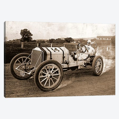 Vintage Photo Race Car Canvas Print #13} Canvas Art