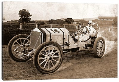 Vintage Photo Race Car Canvas Art Print