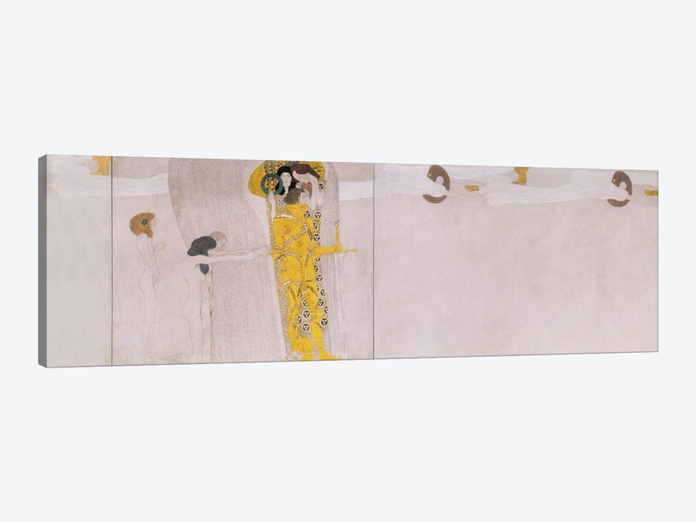 The Beethoven Frieze (The Hostile Forces) by Gustav Klimt 1-piece Canvas Print
