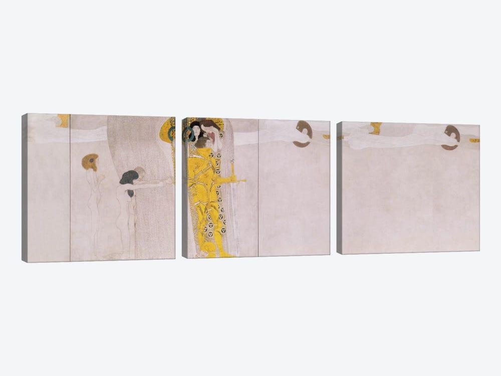 The Beethoven Frieze (The Hostile Forces) by Gustav Klimt 3-piece Canvas Print