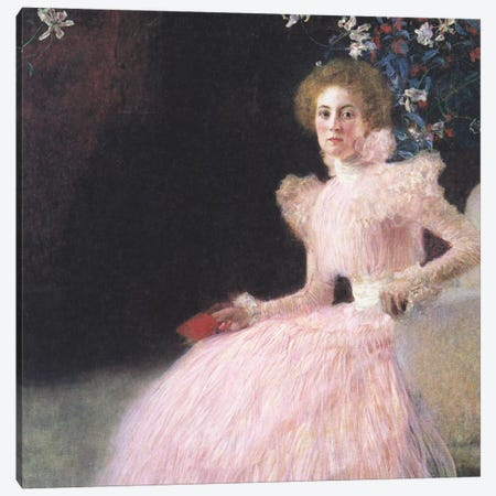 Bildnis Sonja Knips (Portrait of Sonja Knips) Canvas Print #14006} by Gustav Klimt Canvas Wall Art
